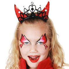 Face painting for devil costume halloween pinterest for Cara pintada diablo