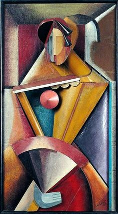 Archipenko, Alexander (1881-1964) - 1914 Woman with a Fan (Tel Aviv Museum, Israel) | Flickr - Photo Sharing!