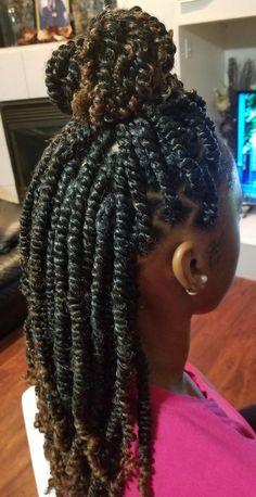 Hair natural - Finished my goddaughter Jazmyne's hair! of Spring Twist Hair (u. - Finished my goddaughter Jazmyne's hair! of Spring Twist Hair (uncut) is Ombre natural n jam # spring twist Braids Spring Twists, Spring Twist Hair, Braids For Kids, Girls Braids, My Hairstyle, Twist Hairstyles, Hairstyle Ideas, Curly Hair Styles, Natural Hair Styles