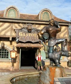 Gaston's Tavern- Magic Kingdom (New Fantasyland)- For a quick snack location this place was awesome! We went during an off time and it wasn't busy at all. Classic cinnamon buns the size of your head were delicious and the room was dark, full of antlers, and just a must-see.