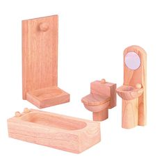 "PlanToys Dollhouse Bathroom Set - Classic - PlanToys - Toys ""R"" Us"