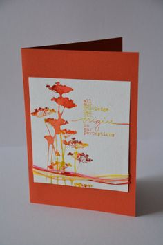 Notecard wildflowers all occasions hand stamped by MissFrangipani, $4.50