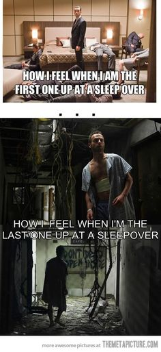 Sleepover...I really just think the Walking Dead pic is super creepy and totally worth pinning and getting freaked out over again.