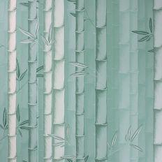 Papier peint - Osborne & Little - Bamboo - gris foncé, bleu et ...