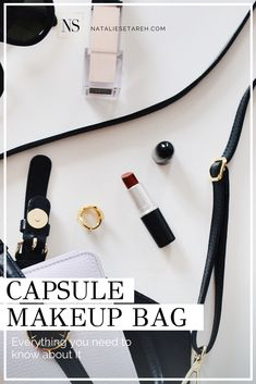 Do more with less with a capsule makeup bag! Easy Makeup Tutorial, Makeup Tutorial For Beginners, Makeup Bags, Makeup Kit, Best Makeup Tips, Best Makeup Products, How To Wear Makeup, Clear Mascara, Too Much Makeup