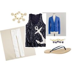 """""""J Crew Anchors"""" by admd on Polyvore"""