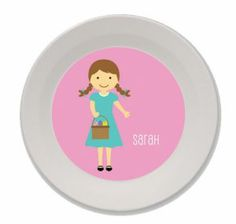 Personalized Easter Bowls for Kids (Girl)
