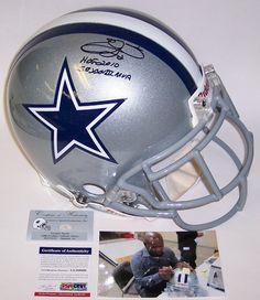 Emmitt Smith HOF MVP Autographed Hand Signed Dallas Cowboys Authentic Helmet - PSA/DNA