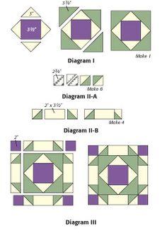 Broken Dishes block assembly diagrams