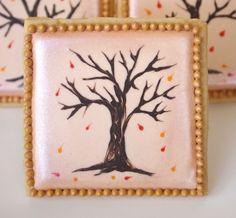Vintage Styled Fall Foliage Tree Cookies | Make Me Cake Me