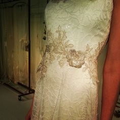 Claire Pettibone 'Grossamer' wedding dress (front), Still Life Collection, 2014 Fashion Show, Bridal Market Photo: Guy Toley