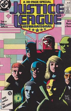 Justice League International (or JLI for short) is a DC Comics superhero team written by Keith Giffen and J. M. DeMatteis, with art by Kevin Maguire, created in 1987.  Justice League International was created after the 1987 company-wide crossover limited series , Legends , when a new Justice League was formed and given a less America-centric mandate than before. http://www.rarecomicbooks.fashionablewebs.com/Justice%20League%20International.html #justiceleague   #justiceleagueofamerica