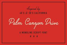 Palm Canyon Drive (Plus Extras!) by RetroSupply Co. on @creativemarket