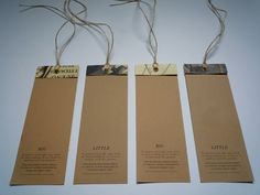 The Cultivation collection swingtags