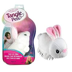 Tangle Pets Boppity The Bunny The Detangling Brush In A Plush Great For Any Hair Type Removable Plush As Seen On Shark Detangler Detangling Brush Wet Brush