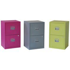 Staples - Studio Filing Cabinet 2 Drawer A4 Citrus £44.99