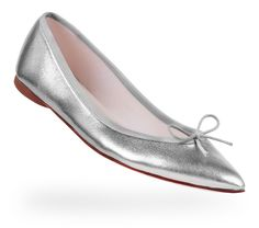 Ballerina Brigitte White gold Lambskin by Repetto, France