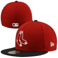 New Era Boston Red Sox 2-Tone Vintage 59FIFTY Fitted Hat - Red/Navy Blue