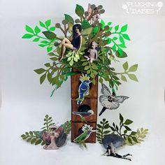 Artist Trading Block Fairy Tree