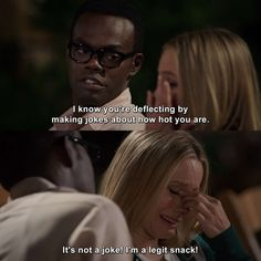 The Good Place - Pandemonium memes for women Place Quotes, Funny Memes, Hilarious, Everything Is Fine, Fandoms, Movies Showing, Best Tv, Movie Quotes, Favorite Tv Shows