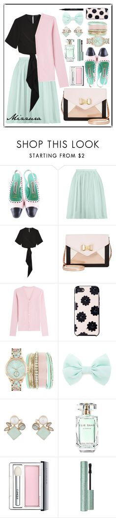 """""""Untitled #64"""" by mizzura ❤ liked on Polyvore featuring Pollini, Boohoo, E L L E R Y, Betsey Johnson, Lucien Pellat-Finet, Kate Spade, Jessica Carlyle, Forever 21, Atelier Mon and Elie Saab"""