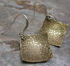 Romance, Sterling Silver and Brass earrings, ThePurpleLilyDesigns. $19.75, via Etsy.