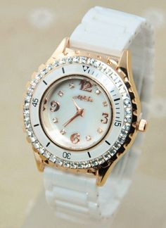 watch- http://zzkko.com/n216028-[JSG]-authent--Korean-female-table-3-Bling-diamond-ring-shell-plate-personalized-white-ceram--watches-nightclub-flash-drill.html $19.54
