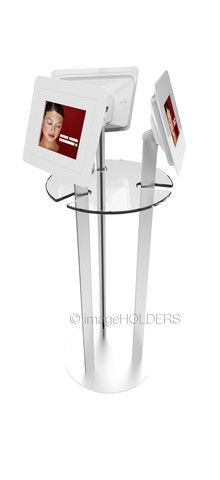 Floor Standing 'Poser Table' with 3 Tablet Display
