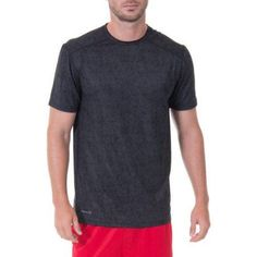 Russell Men's Performance Texture Printed Crew Tee, Size: Medium, Gray