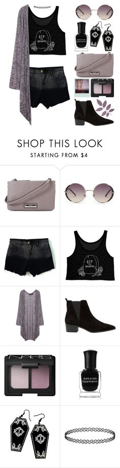 """RIP My Motivation"" by meaganmuffins ❤ liked on Polyvore featuring Nine West, Forever 21, MANGO, NARS Cosmetics, Deborah Lippmann and Curiology"