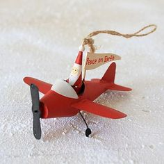 'Father Christmas Airplane' Decoration by ELLA JAMES $11.82