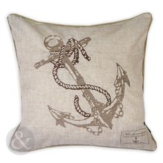 Nautical-Seaside-Scatter-Cushion-Cover-Embroidered-Sand-Beige-Cotton-Linen