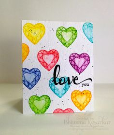 blending art and craft : oday I am sharing cards I made for the challenges going on at Winnie & Walter blog. They have a month long 2nd birthday celebrations. My first card is for Rainbow challenge with Vanessa. Stamped the images with distress inks and added water to them.