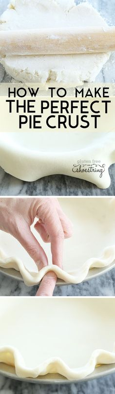 The ultimate step by step guide to how to make the perfect light and flaky gluten free pie crust in just one bowl. With a dairy-free option, too!