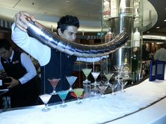 Summit Martini Bar ... The bar is iced so you can't lean on it :) ... AND they have Happy Hour from 4-6 pm !!! Perfection :)