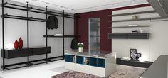 SHOWROOM | Proyecto comercial: mobiliario + revestimiento + iluminación + puertas + cocina + baños #dgla #panama