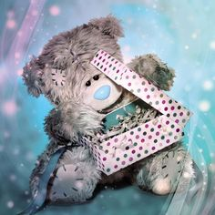 3D Holographic Me to You Bear Present Birthday Card  £2.99