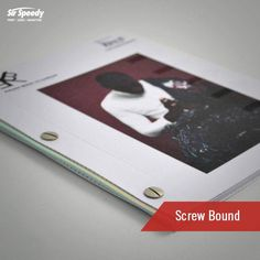 Types of Book Binding-Screw Bound Graphic Design Layouts, Layout Design, Book Binding Types, Leaf Book, Types Of Books, Bound Book, Design Projects, A5, Menu