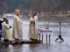 Great Blessing of Waters on the Sanok river on the Day of Theophany.