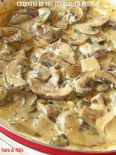 Ciuperci in sos cremos cu mustar un preparat ideal drept garnitura langa o friptura, dar nu numai. Meat Recipes, Vegetarian Recipes, Dinner Recipes, Cooking Recipes, Healthy Recipes, My Favorite Food, Favorite Recipes, Good Food, Yummy Food