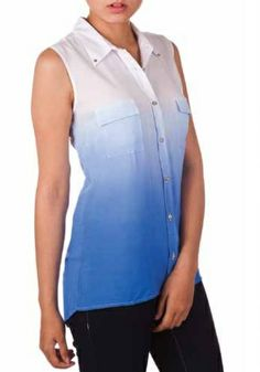 Ombre Sleeveless Blouse Spring 2014, Sleeveless Blouse, March, Vest, Jackets, Tops, Dresses, Women, Fashion