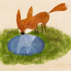 Ilustración. Reflejo zorro. Sergio Gontz