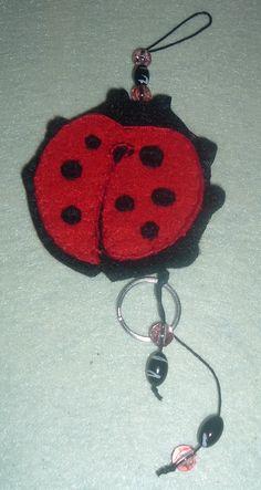 Joaninha Crochet Earrings, Jewelry, Key Fobs, Ladybug, Jewlery, Jewerly, Schmuck, Jewels, Jewelery