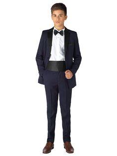 Paisley of London, Boys navy tuxedo, Boys tuxedo, Boys prom suits, Boys dinner suits, 12 months - 13 years: Amazon.co.uk: Clothing