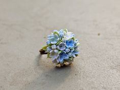 lilac Ring, flowers ring, vintage ring , jewelry , bronze