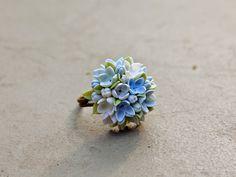 Lila anillo anillo anillo flores vintage joyas por Joyloveclay
