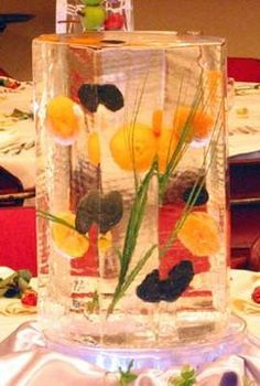 Cheap and Easy ~A fruit and ice sculpture centerpiece