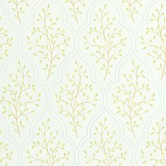 Sassafras #wallpaper in #aqua from the Chelsea collection. #Thibaut