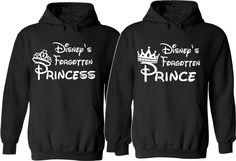 Disneys Forgotten Prince and Princess Couple Hoodies For Her For Him Unisex Sizes,So Cozy Comfy Perfect Valentine's Day Gifts by SuperTeesandHats on Etsy