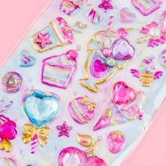 Jewelry Tiara Dessert Puffy Stickers Kawaii Gifts, School Accessories, Cute School Supplies, Pretty Notes, Sticker Bomb, Kawaii Stationery, Kawaii Shop, Welcome Gifts, Cute Purses